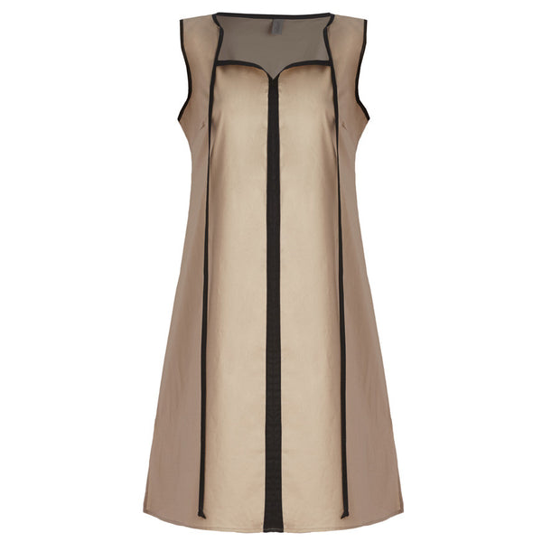 Santorini Dress - Sleeveless Nude / Black