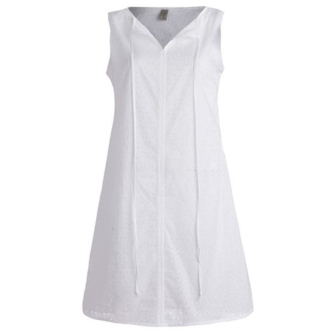 Santorini Dress - Sleeveless Broderie Anglaise