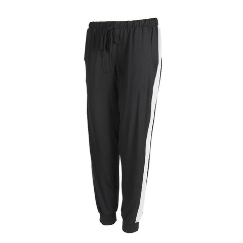 Track Pant Jersey Black / White