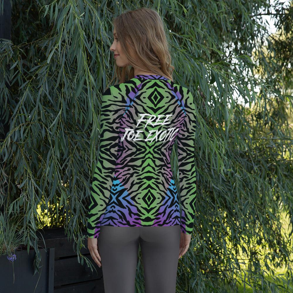 Women's Free Joe Exotic Rash Guard