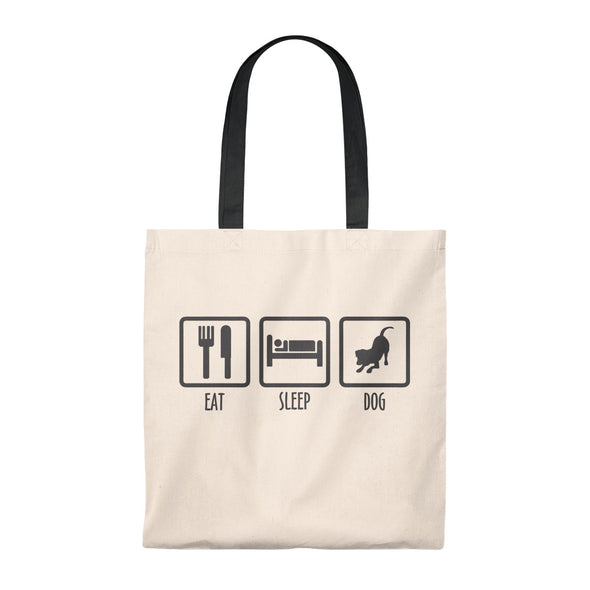 EAT SLEEP DOG VINTAGE TOTE BAG