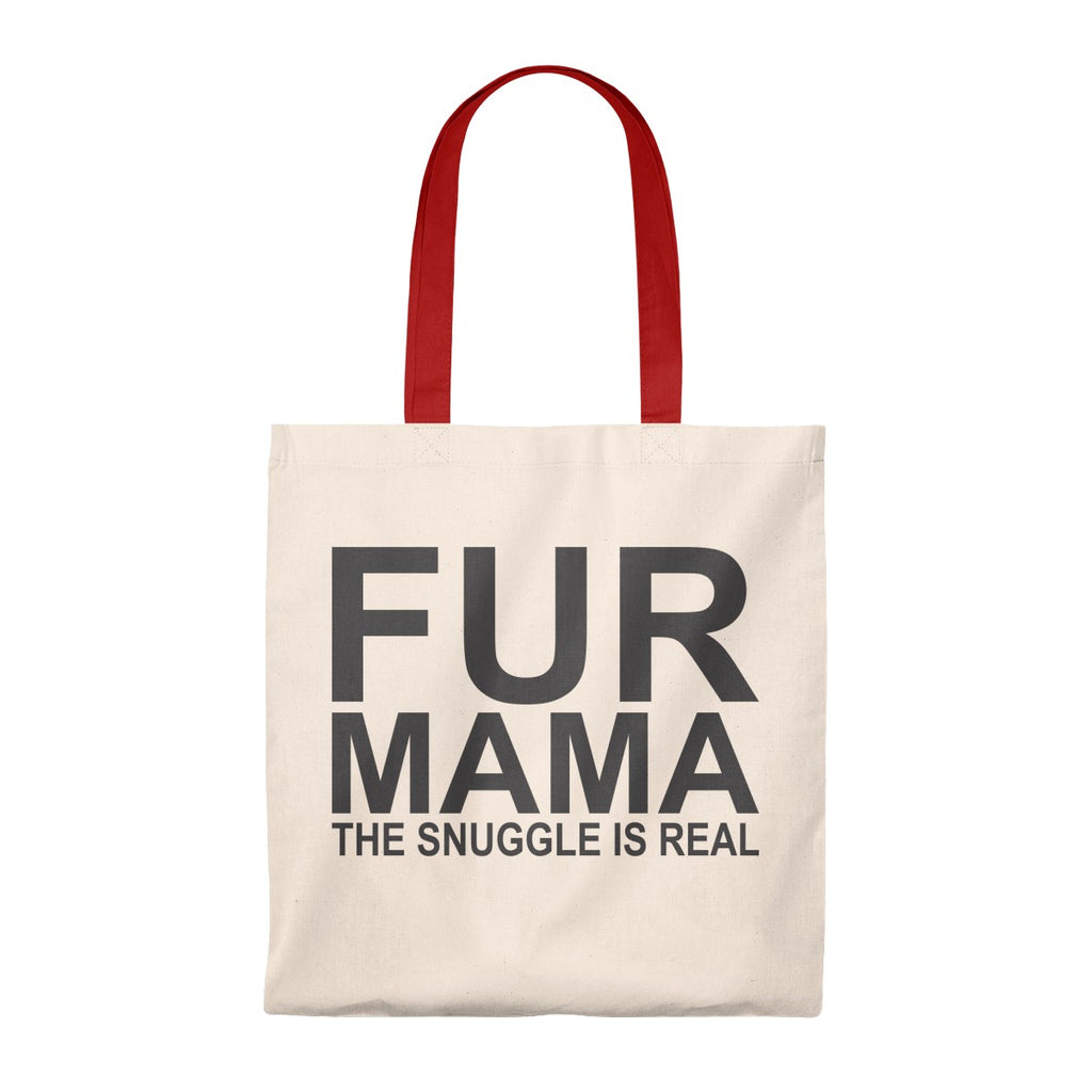 FUR MAMA THE SNUGGLE IS REAL VINTAGE TOTE BAG