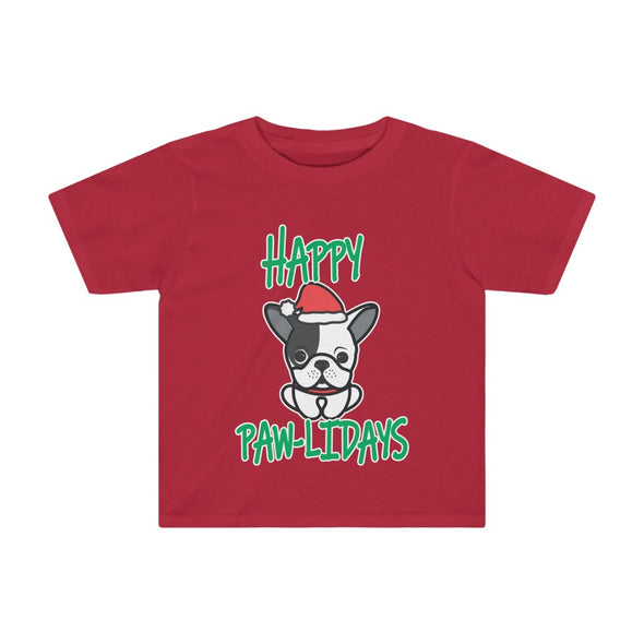 HAPPY PAW-LIDAYS DOG HOLIDAY KIDS TEE
