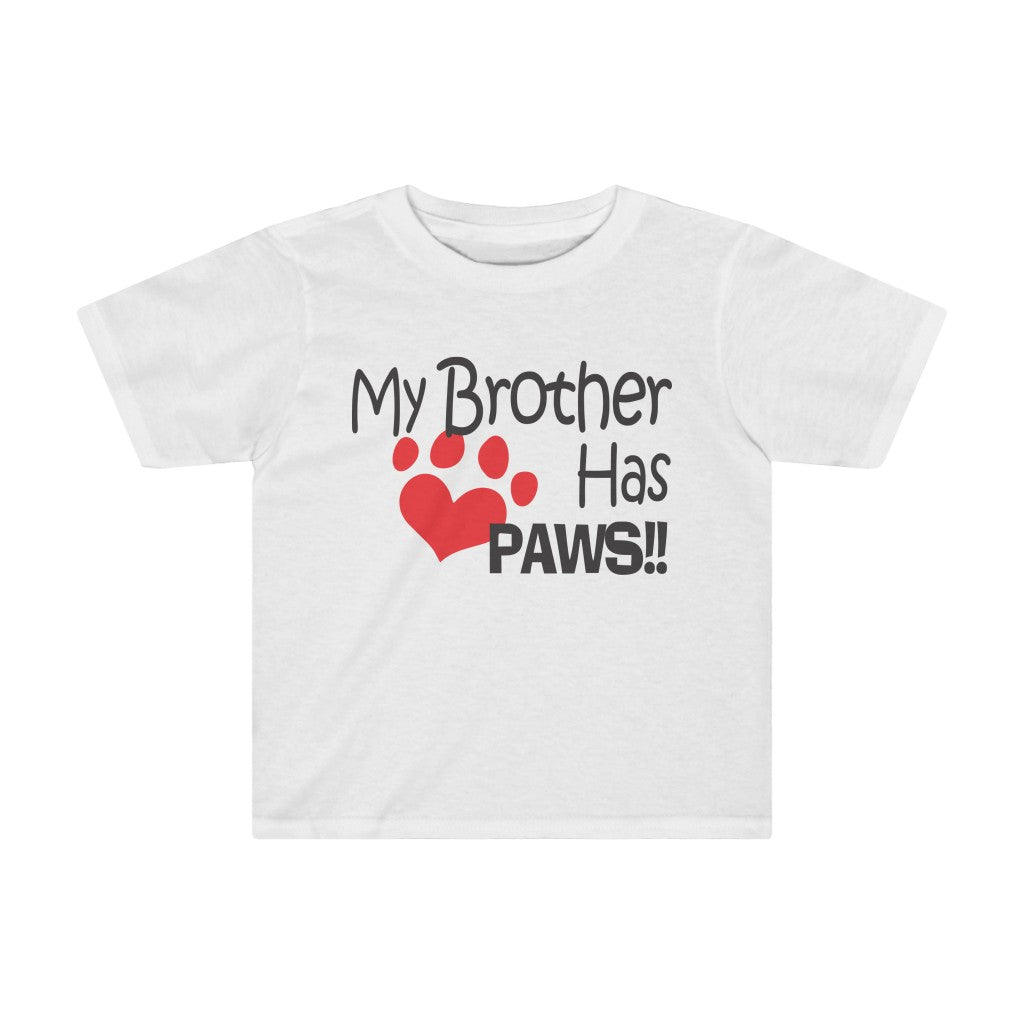 MY BROTHER HAS PAWS HEART KIDS TEE