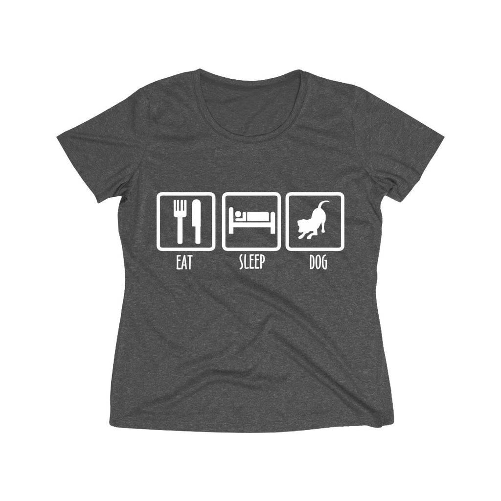 EAT SLEEP DOG WOMEN'S WICKING TEE