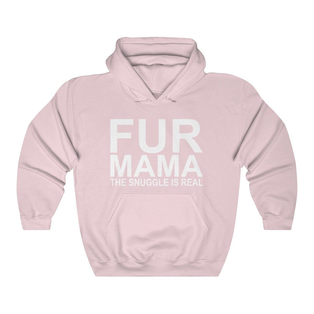 FUR MAMA THE SNUGGLE IS REAL HEAVY UNISEX HOODIE Dog Lover Clothing Apparel Mucho Poocho