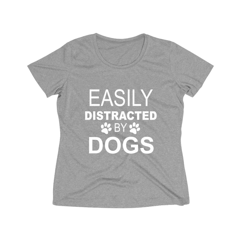 EASILY DISTRACTED BY DOGS WOMEN'S WICKING TEE