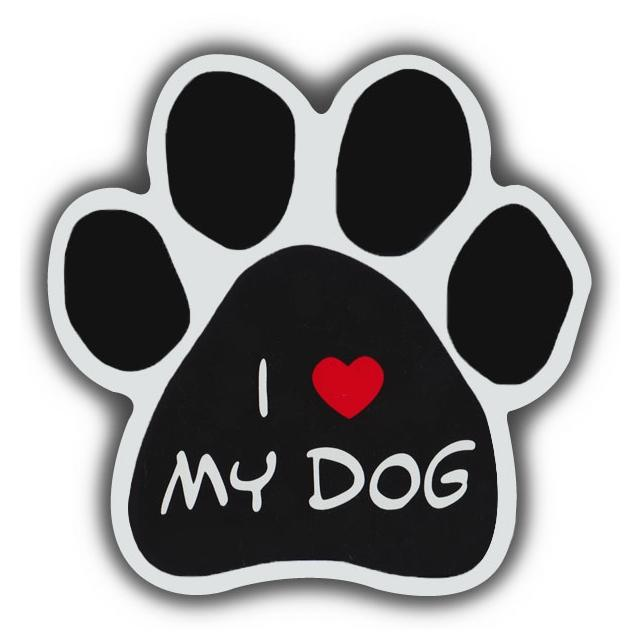 "I Love My Dog Magnet, 5.5"" x 5.5"""