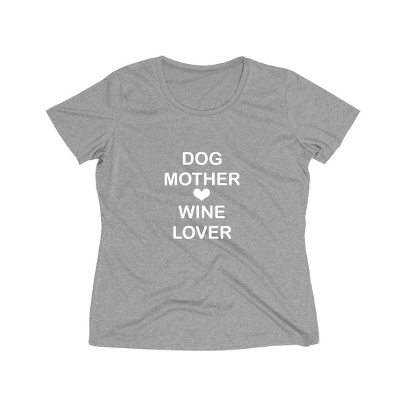 DOG MOTHER WINE LOVER WOMEN'S WICKING TEE
