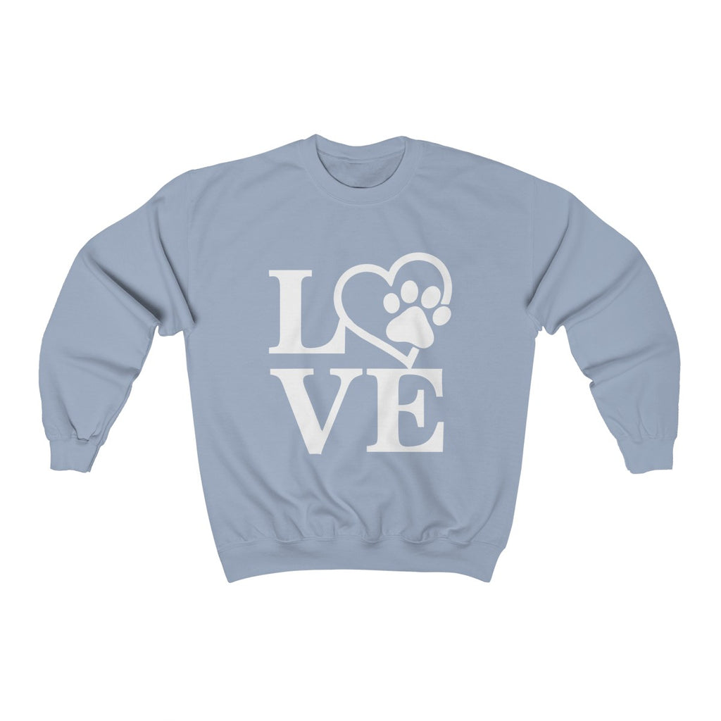 DOG LOVE UNISEX CREWNECK SWEATSHIRT