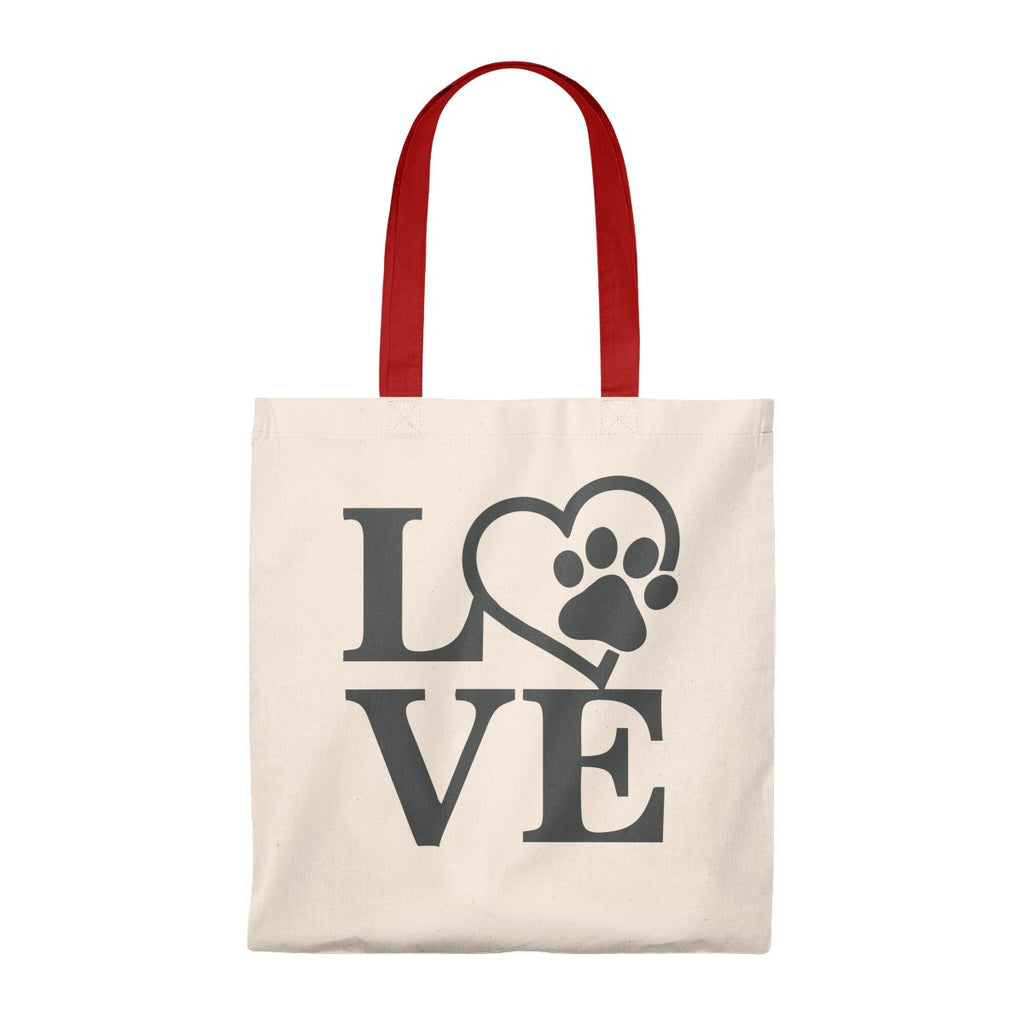 DOG LOVE VINTAGE TOTE BAG