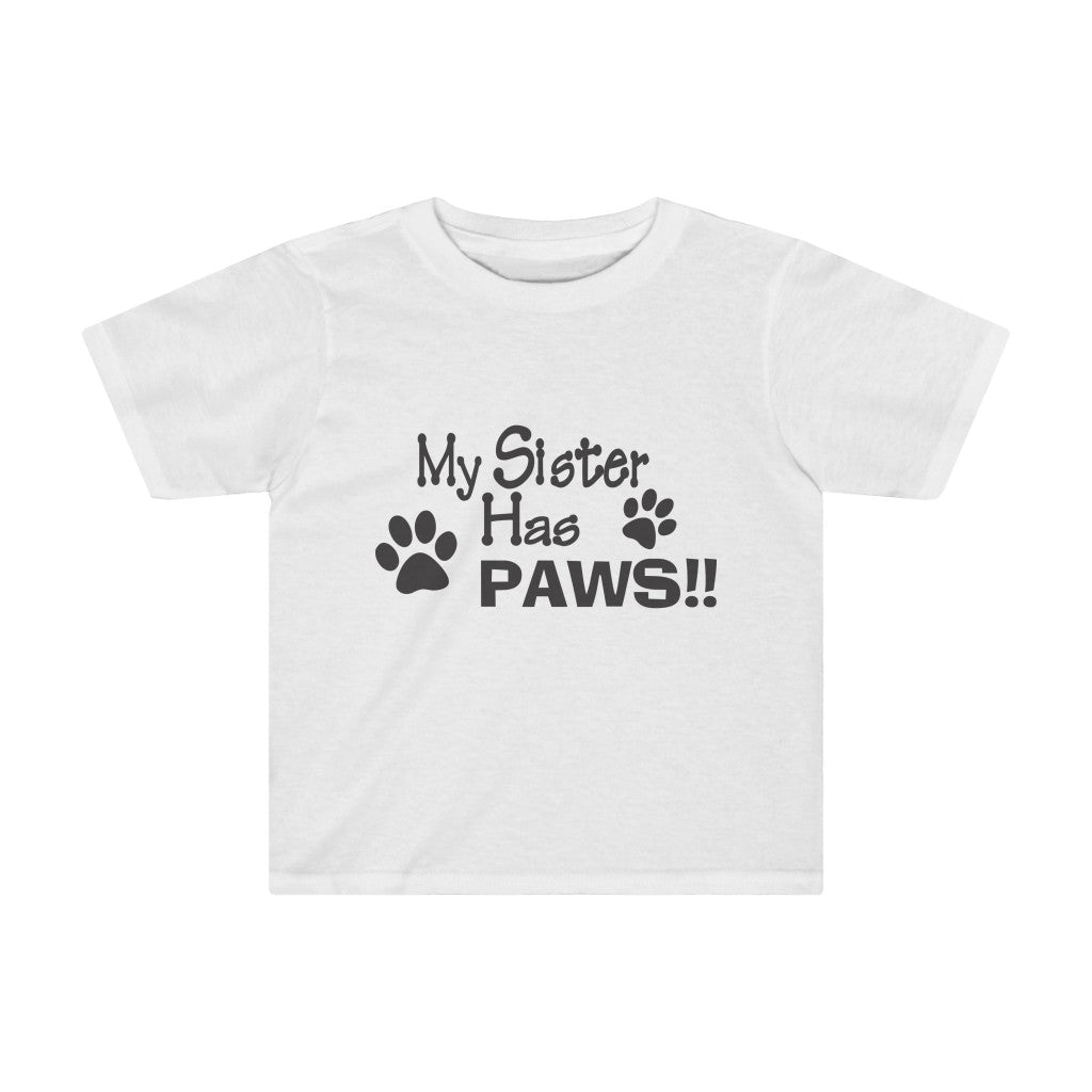 MY SISTER HAS PAWS KIDS TEE