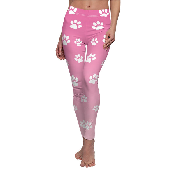 PAW PRINT PINK LEGGINGS