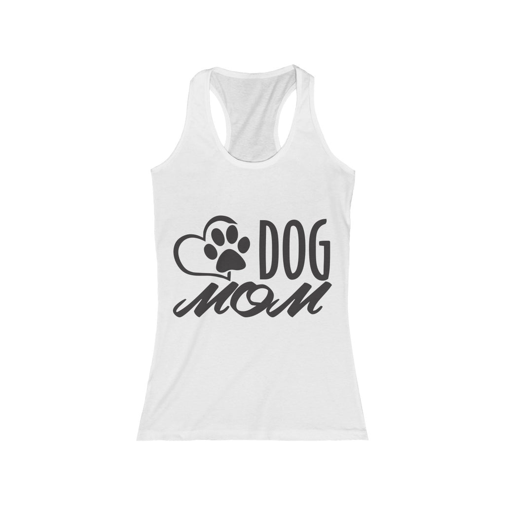 Dog Mom racerback tank top for women dog lovers- Mucho Poocho