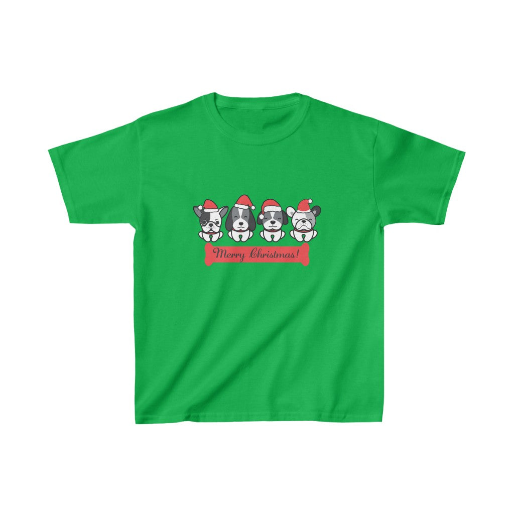 MERRY CHRISTMAS KIDS HEAVY COTTON TEE