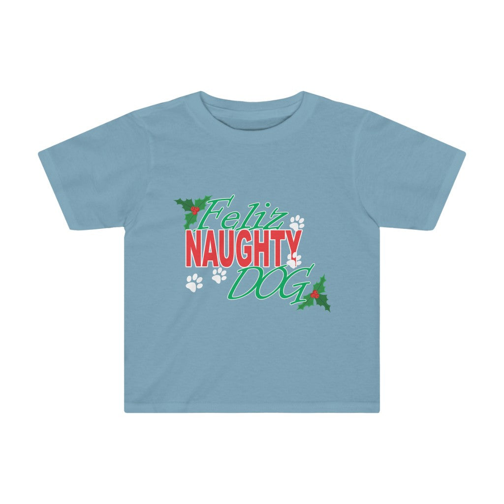 FELIZ NAUGHTY DOG HOLIDAY KIDS TEE