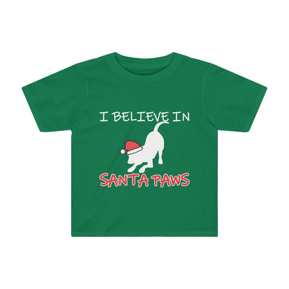 I BELIEVE IN SANTA PAWS HOLIDAY KIDS TEE