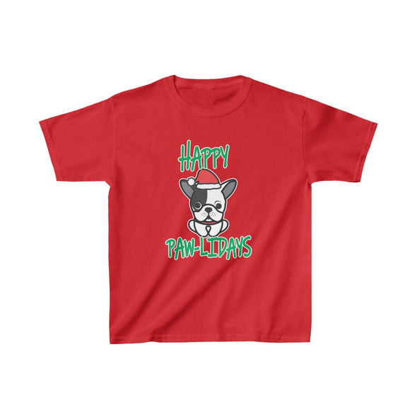 HAPPY PAW-LIDAYS KIDS HEAVY COTTON TEE