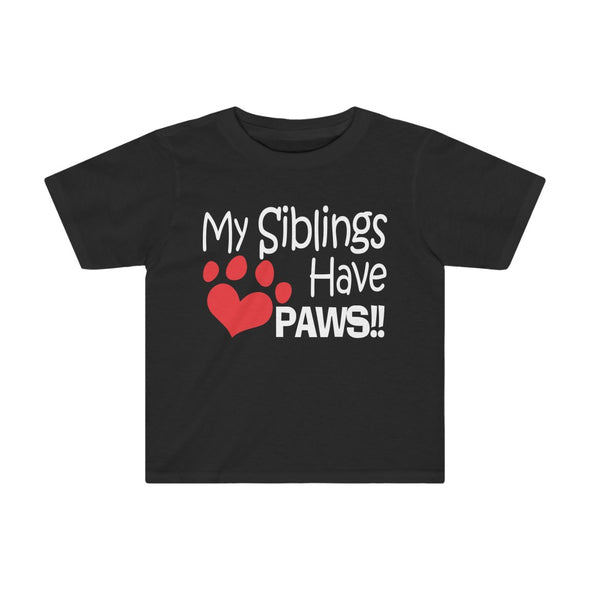 MY SIBLINGS HAVE PAWS HEART KIDS TEE