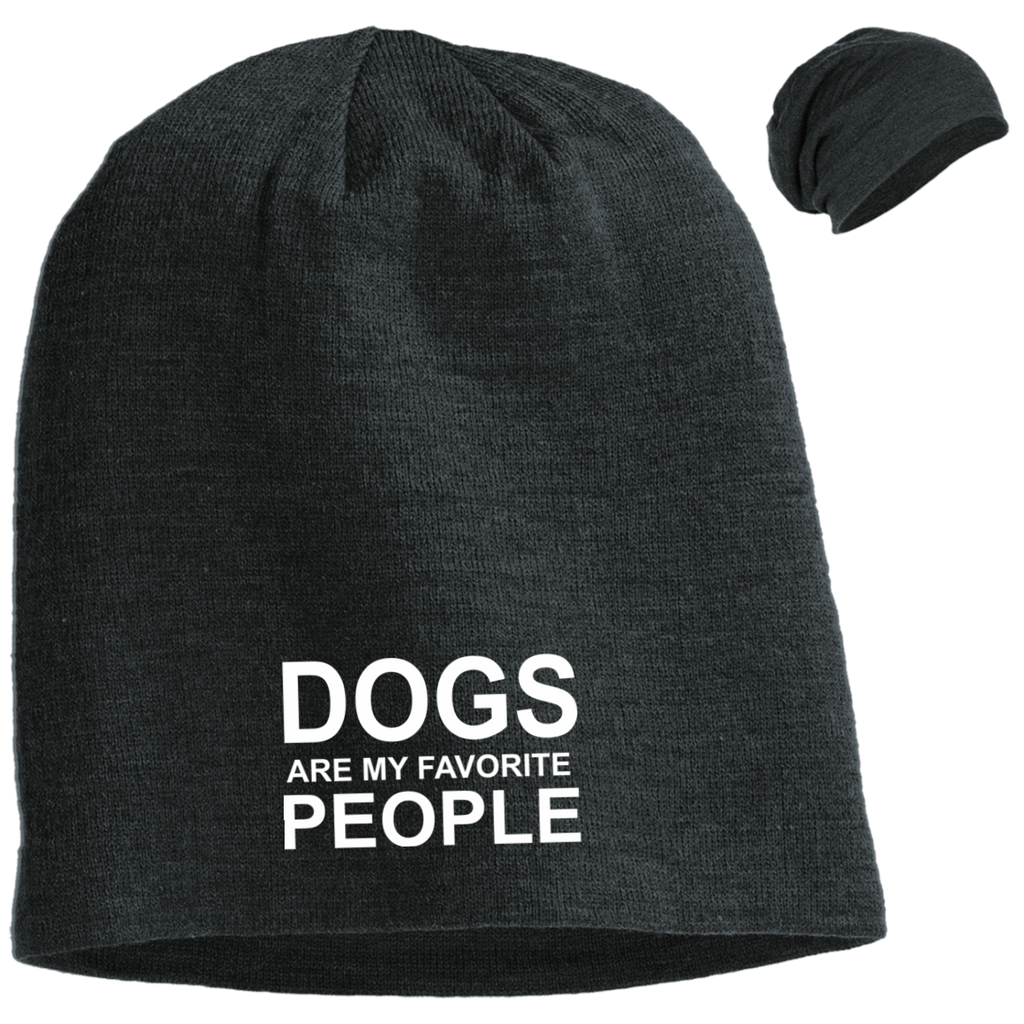 DOGS ARE MY FAVORITE PEOPLE SLOUCH BEANIE