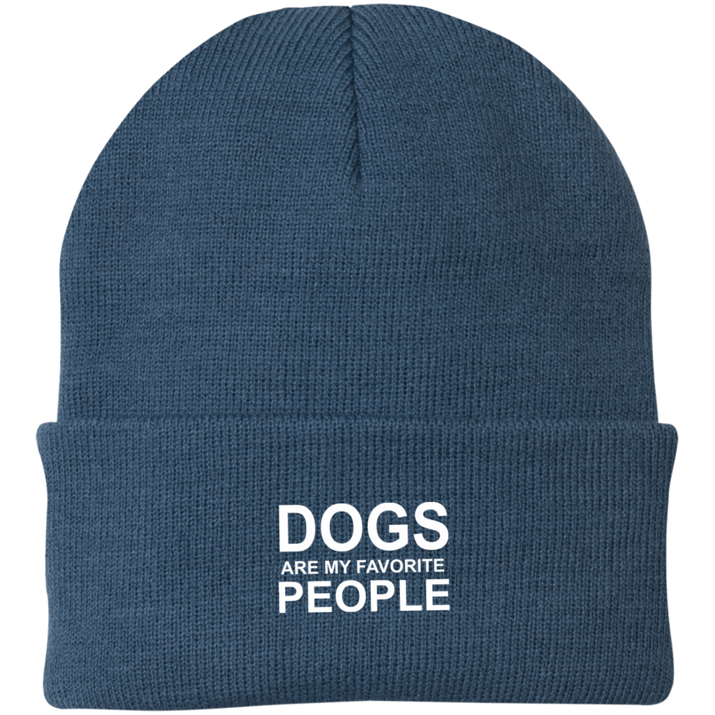 DOGS ARE MY FAVORITE PEOPLE KNIT CAP