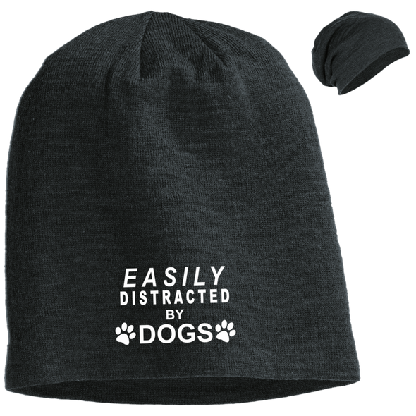 EASILY DISTRACTED BY DOGS SLOUCH BEANIE