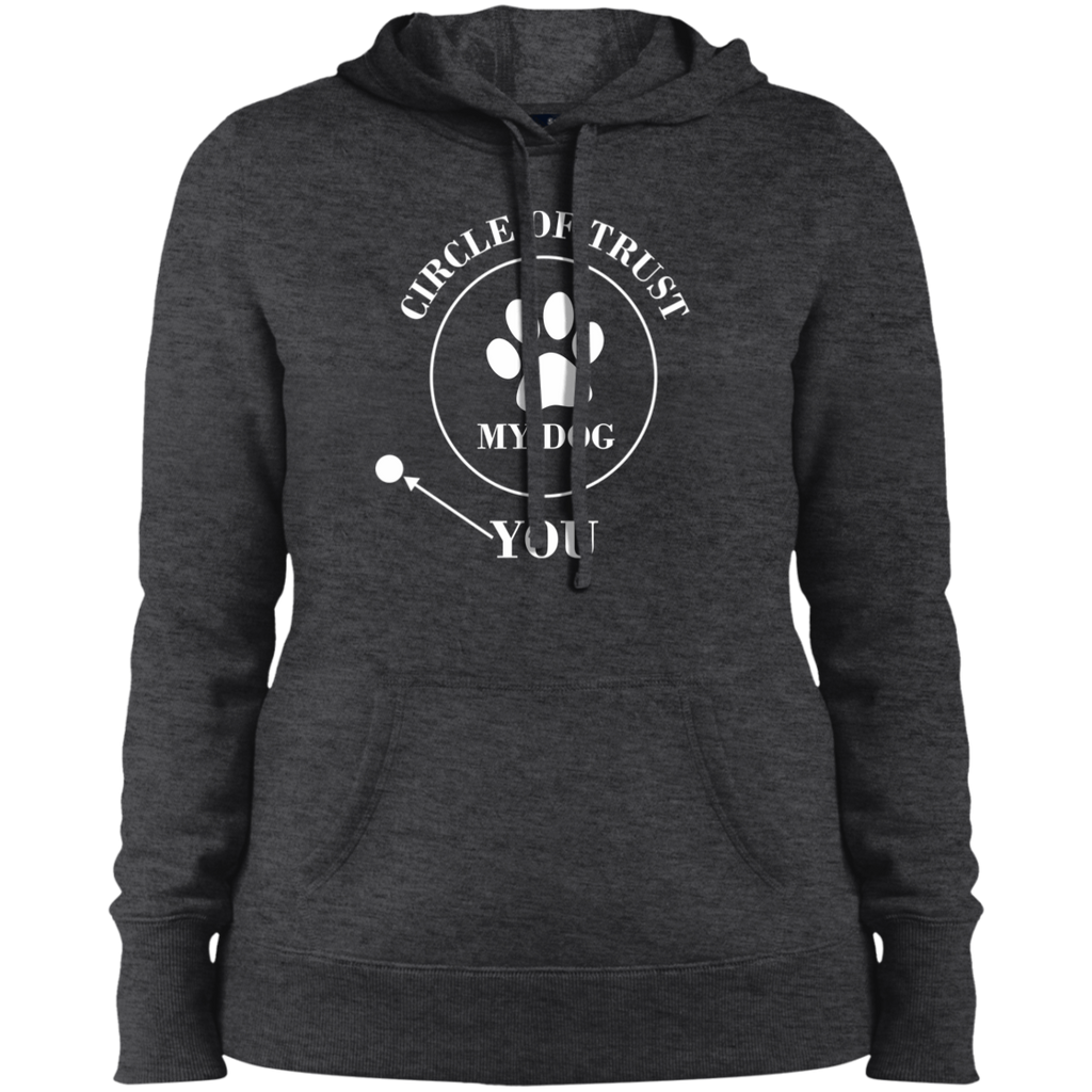CIRCLE OF TRUST COLLEGE FIT WOMEN'S HOODIE DOG LOVERS APPAREL MUCHO POOCHO