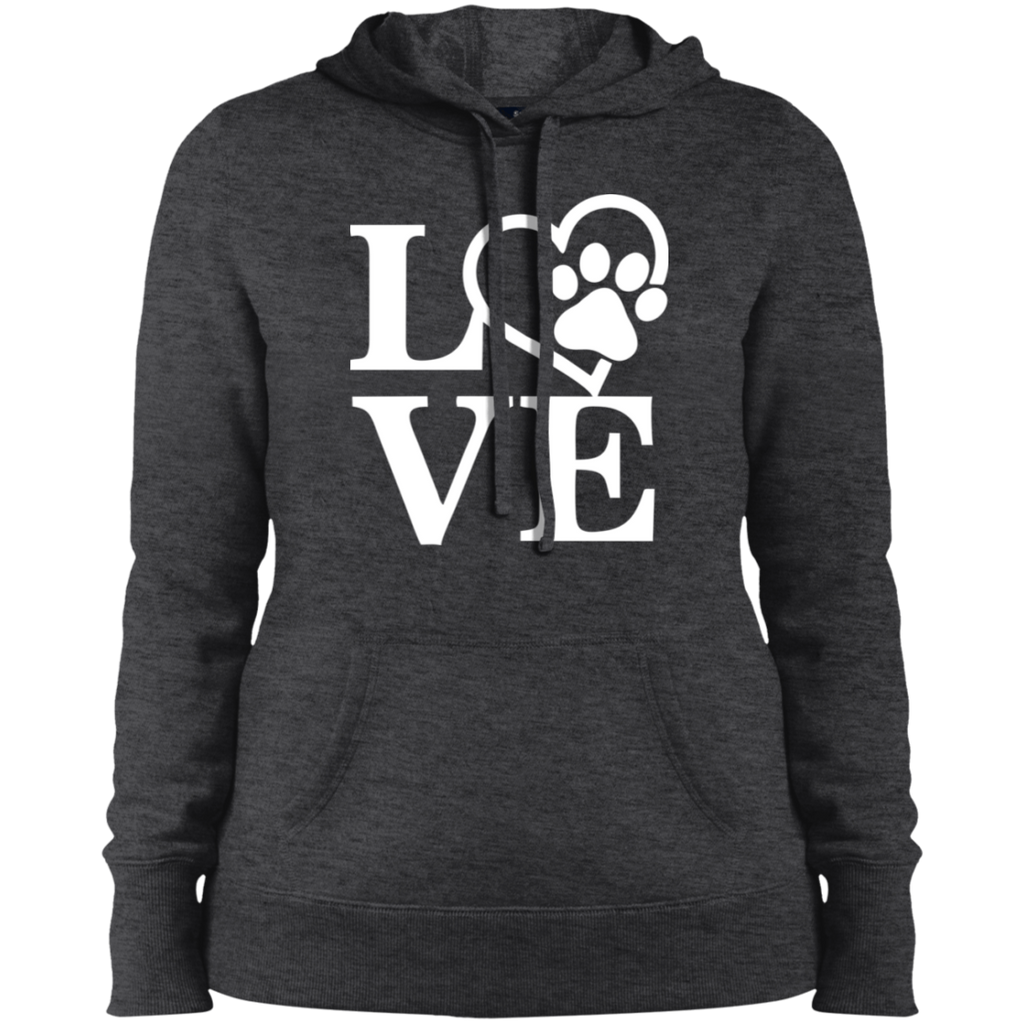 DOG LOVE SHIRT COLLEGE FIT WOMEN'S HOODIE DOG LOVER APPAREL MUCHO POOCHO
