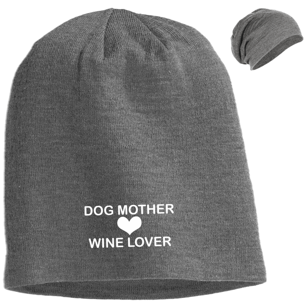 DOG MOTHER WINE LOVER SLOUCH BEANIE