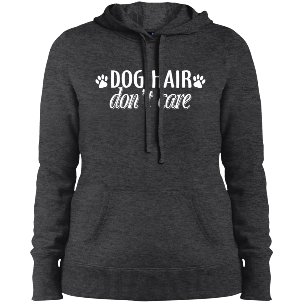 DOG HAIR DON'T CARE COLLEGE FIT WOMEN'S HOODIE DOG LOVER APPAREL MUCHO POOCHO