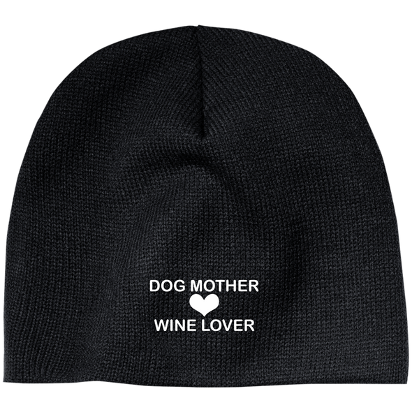 DOG MOTHER WINE LOVER BEANIE