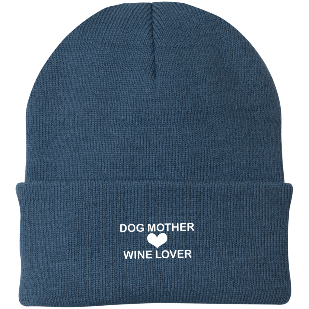 DOG MOTHER WINE LOVER KNIT CAP