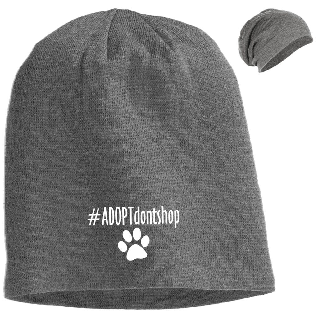 #ADOPT DON'T SHOP SLOUCH BEANIE