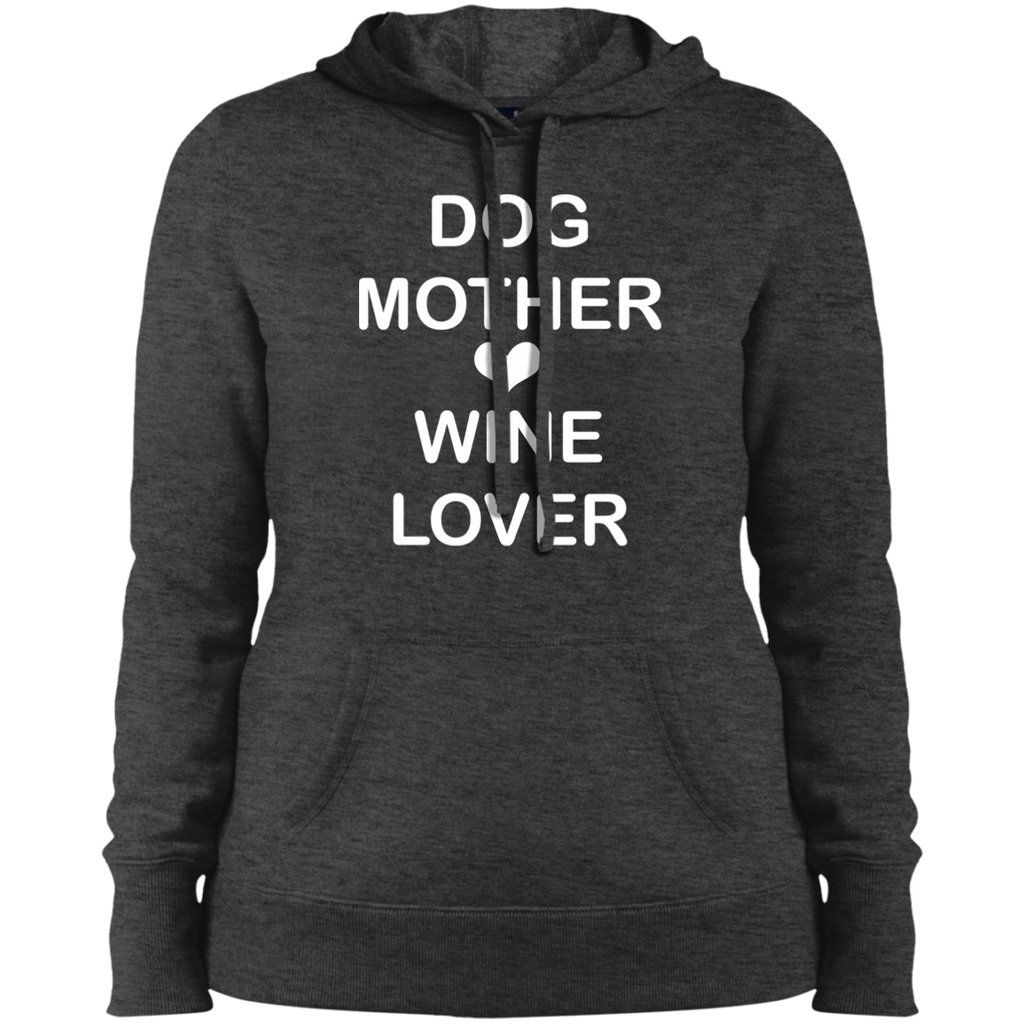 DOG MOTHER WINE LOVER COLLEGE FIT WOMEN'S HOODIE DOG LOVER APPAREL MUCHO POOCHO