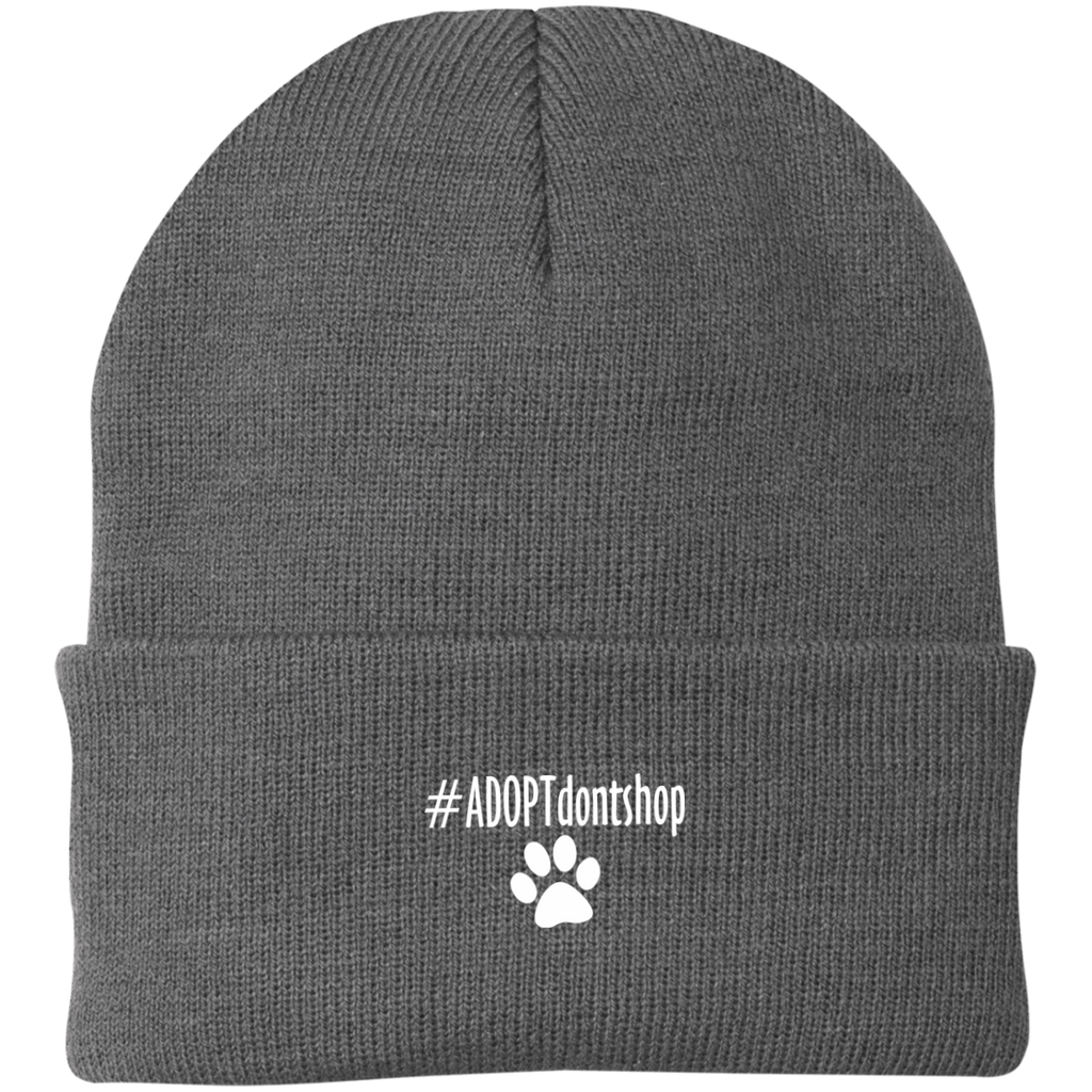 #ADOPT DON'T SHOP KNIT CAP