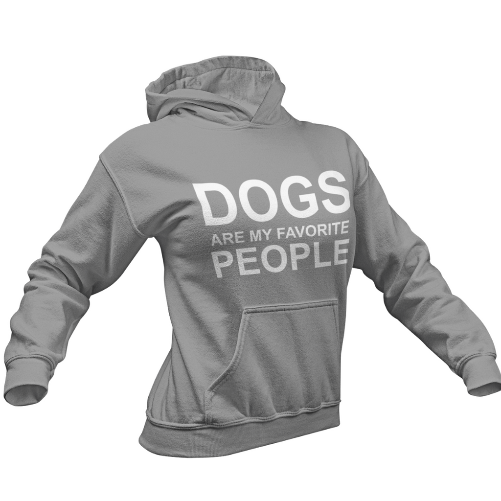 DOGS ARE MY FAVORITE PEOPLE COLLEGE FIT WOMEN'S HOODIE DOG LOVER APPAREL MUCHO POOCHO