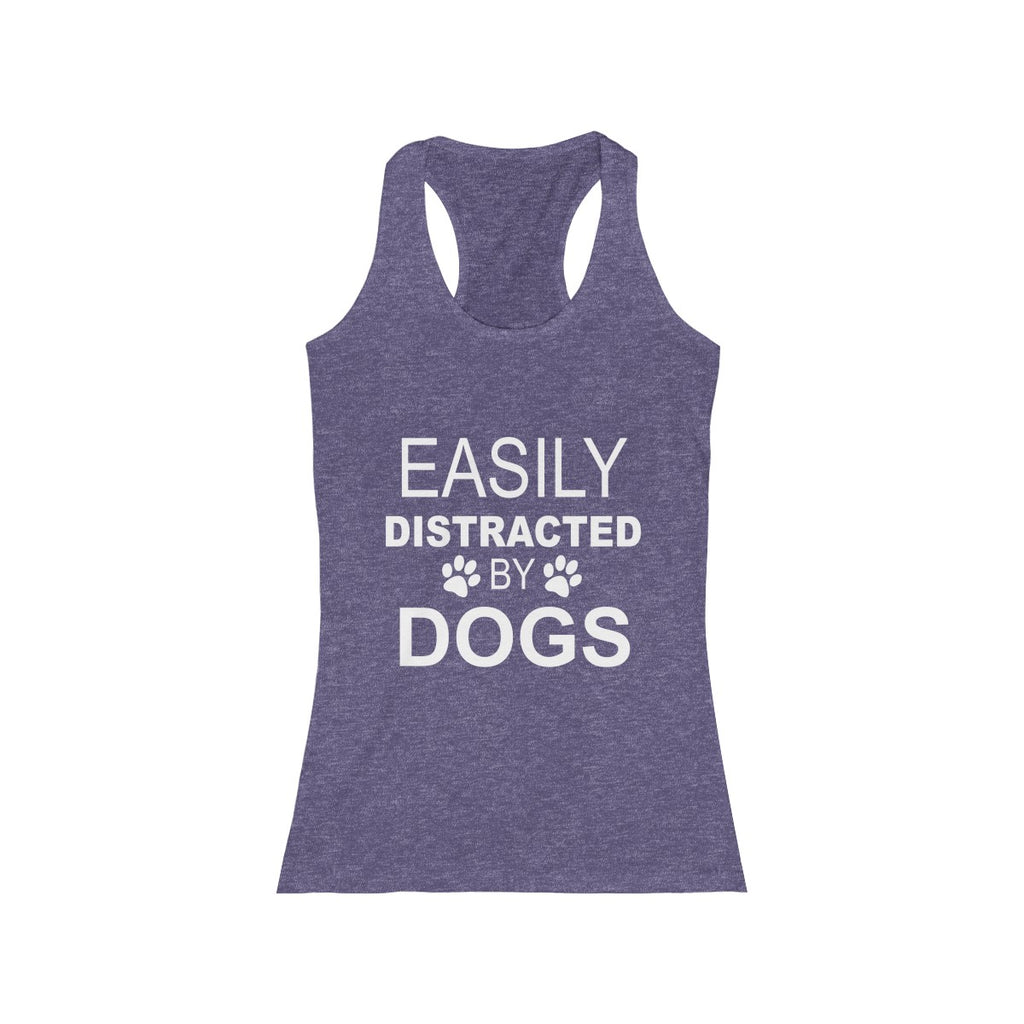 Easily Distracted By Dogs Women's Racerback tank top for dog lovers - Mucho Poocho