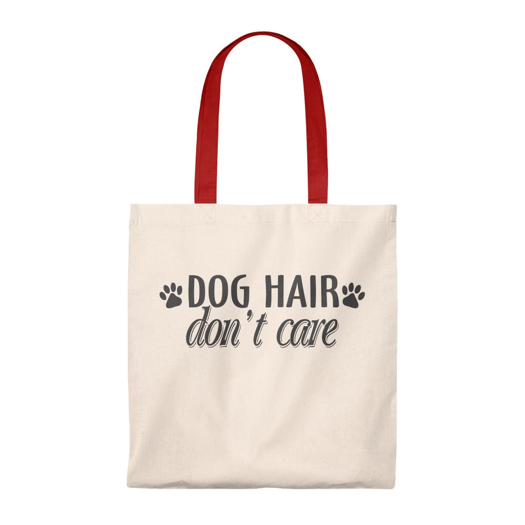 DOG HAIR DON'T CARE VINTAGE TOTE BAG