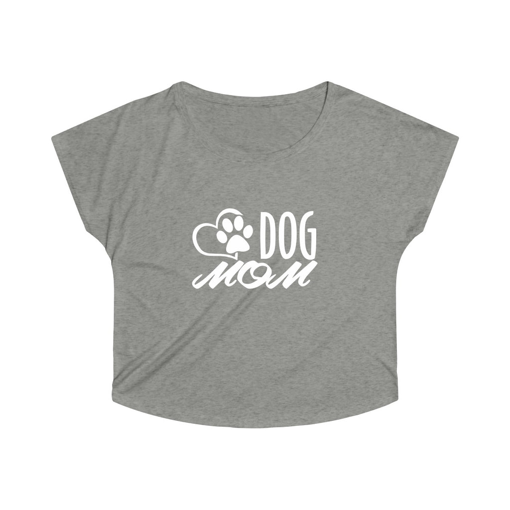 DOG MOM WOMEN'S TRI-BLEND LOOSE FIT TEE