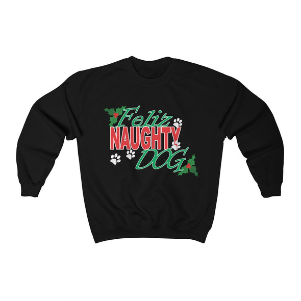 FELIZ NAUGHTY DOG UNISEX CREWNECK SWEATSHIRT