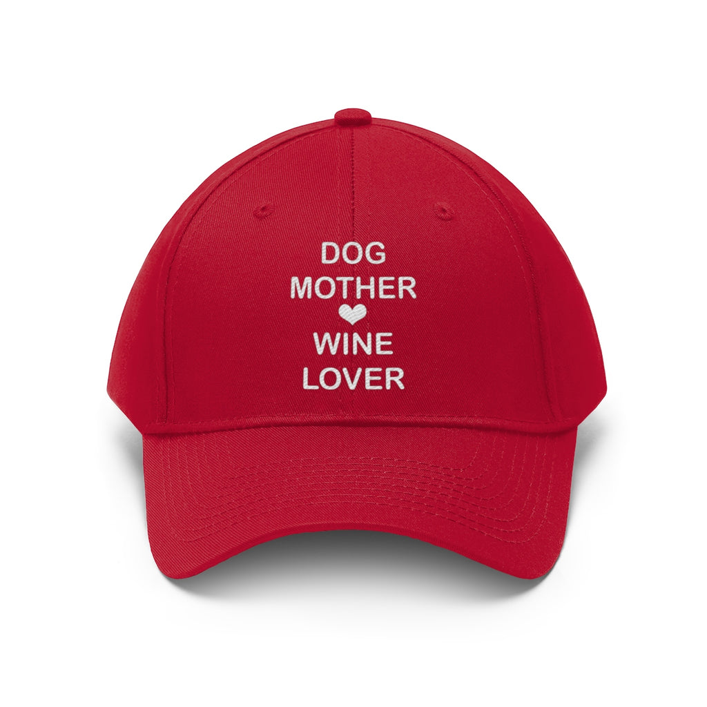 DOG MOTHER WINE LOVER TWILL CAP