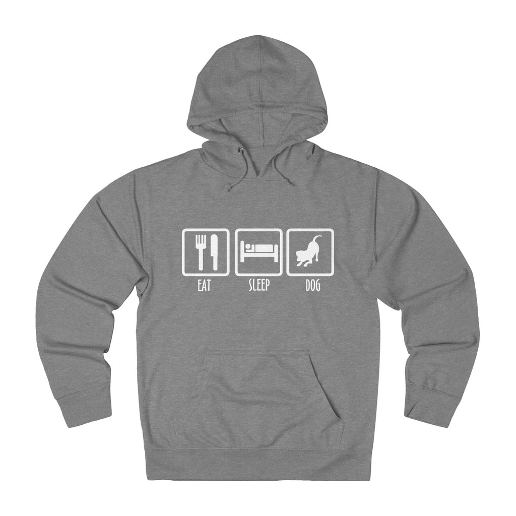 EAT SLEEP DOG UNISEX FRENCH TERRY PULLOVER HOODIE