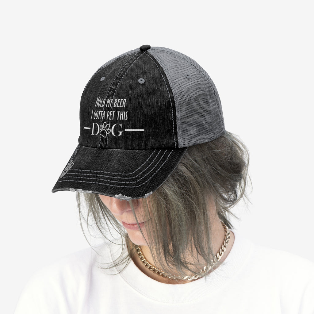 Hold my beer i gotta pet this dog trucker cap for dog lovers - Mucho Poocho
