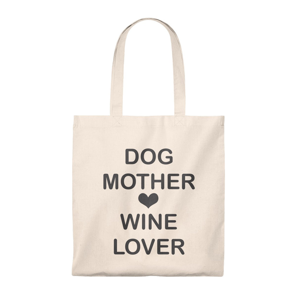 DOG MOTHER WINE LOVER VINTAGE TOTE BAG