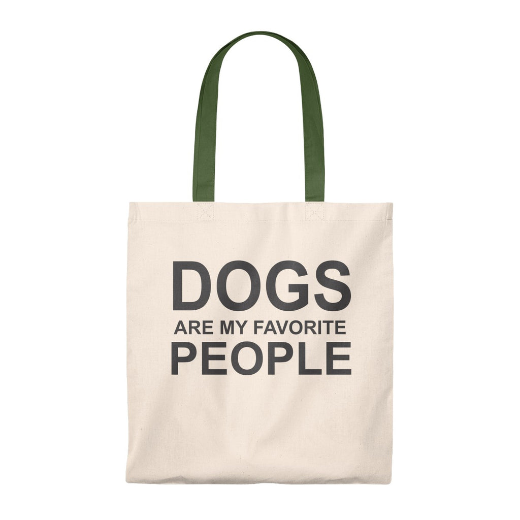 DOGS ARE MY FAVORITE PEOPLE VINTAGE TOTE BAG