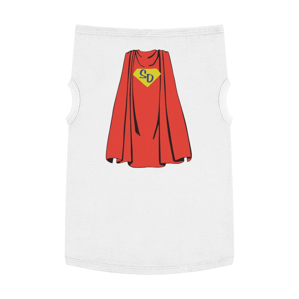 SUPER DOG CAPE PET TANK TOP Dog Shirt Shirts for dogs clothes for dogs
