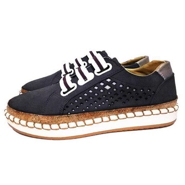 Women Hollow Out Round Toe Leisure Flats Shoes