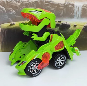 Transforming Dinosaur LED Car