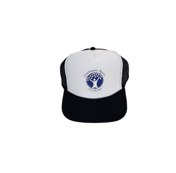 CIRCLE FULL LOGO - Navy White Trucker Hat