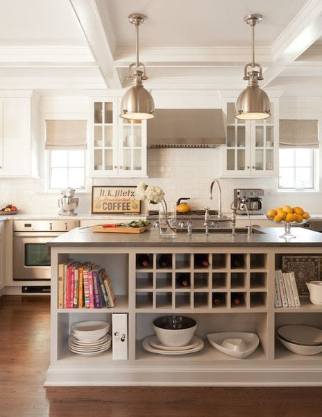 Tips Kitchen Island With Shelves